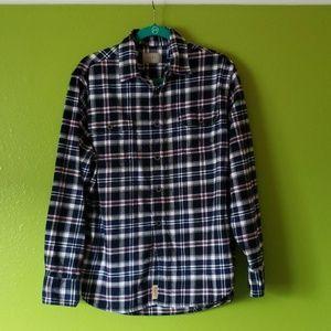 Jachs 100% cotton heavy flannel shirt, medium